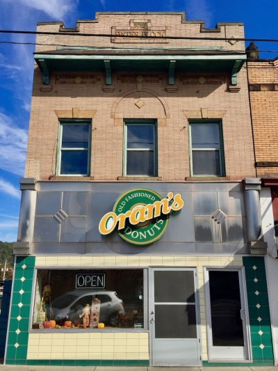 exterior of Oram's Old-Fashioned Donuts, Beaver Falls, PA