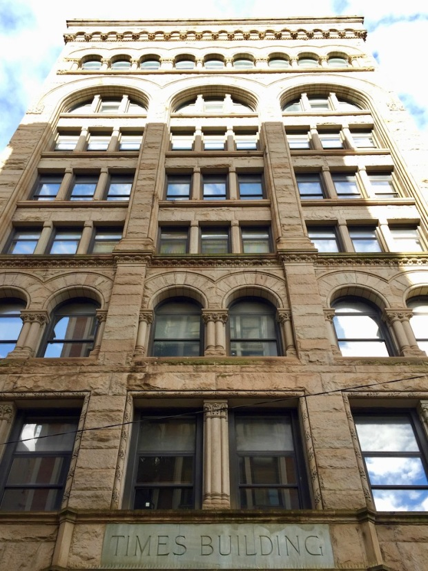 eight-story stone Victorian office building in downtown Pittsburgh