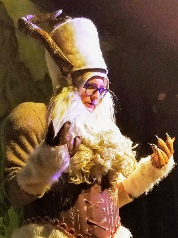 """Teresa Martuccio in costume as bregastone in the play """"La Strega"""""""