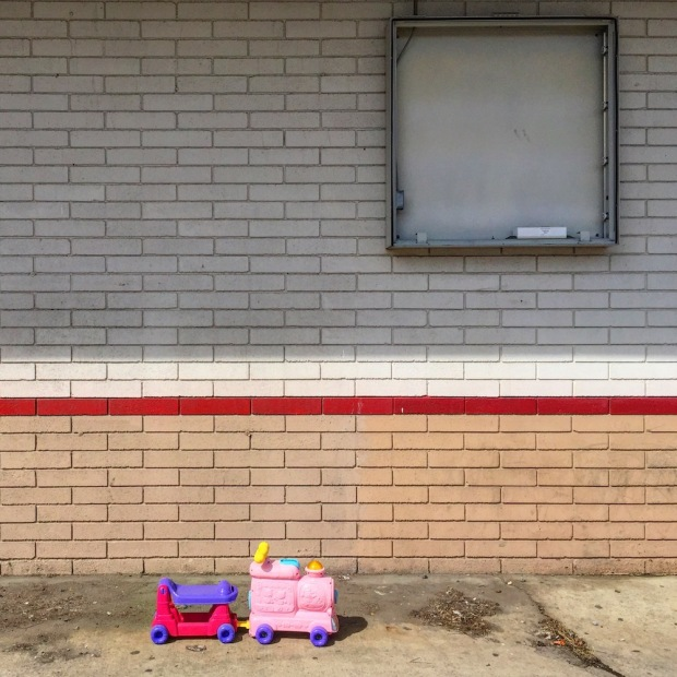 riding/rolling toy abandoned at former quick mart