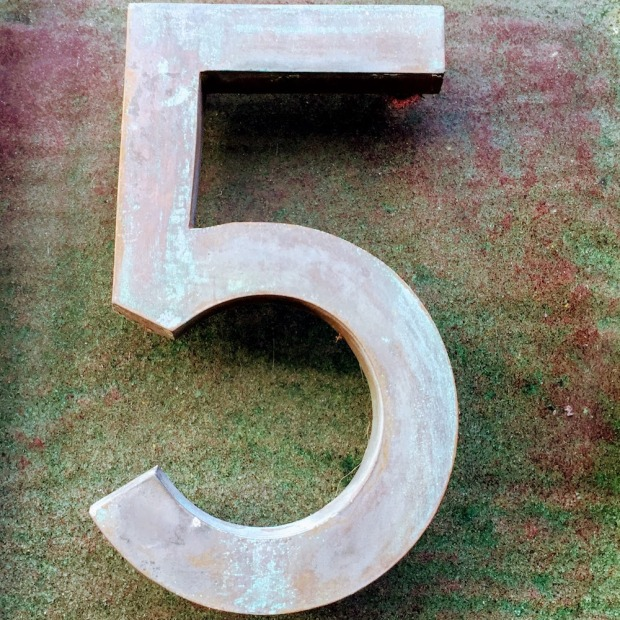 number 5 found on building's address