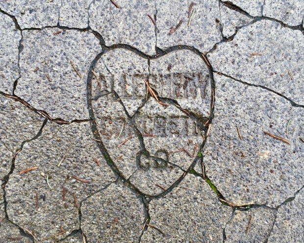 heart-shaped sidewalk stamp from Allegheny Concrete Co.