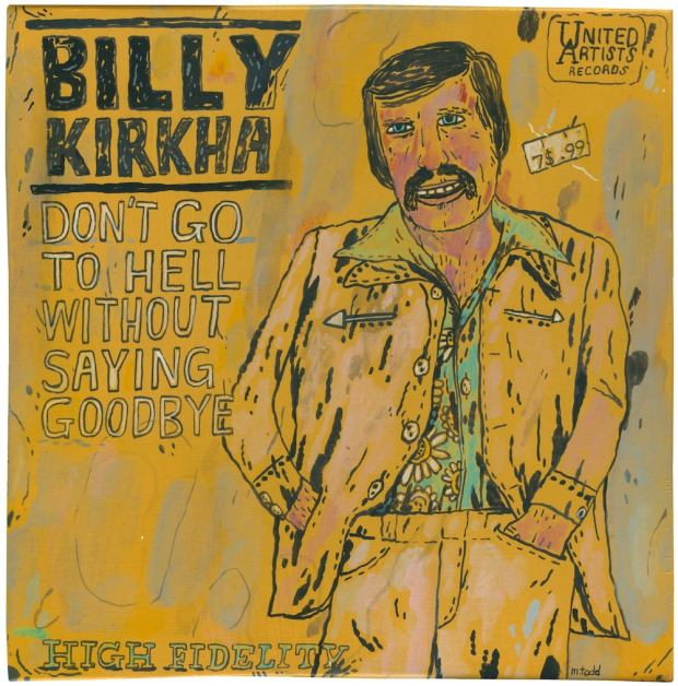 imagined album cover for Billy Kirkha by artist Mark Todd