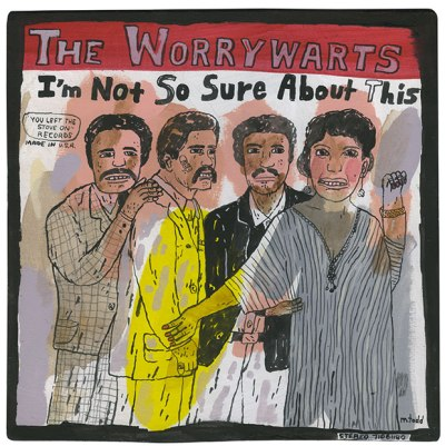 imagined album cover for The Worrywarts by artist Mark Todd