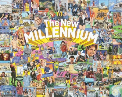 "Artwork for jigsaw puzzle ""The New Millennium"" by Jim Mellett"