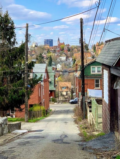 hilltop neighborhood view from Pittsburgh