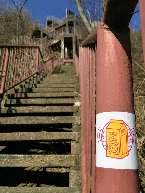 large set of crisscrossing public steps in Pittsburgh