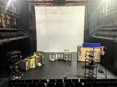 puppet performance areas in large theater