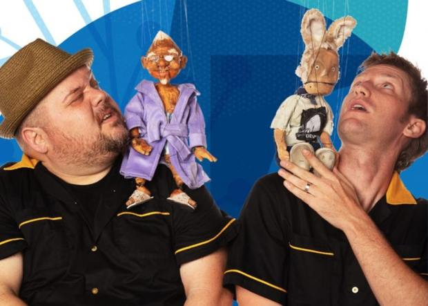 puppeteers Dave English and Will Schutze