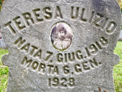 grave marker with ceramic photo inset, Beaver Cemetery
