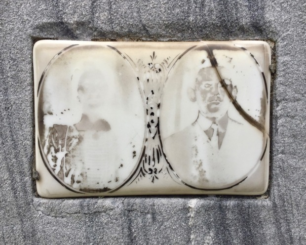 ceramic photo inset from grave marker
