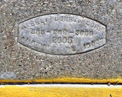 sidewalk stamp for Avelli Construction Crop., Beaver, PA