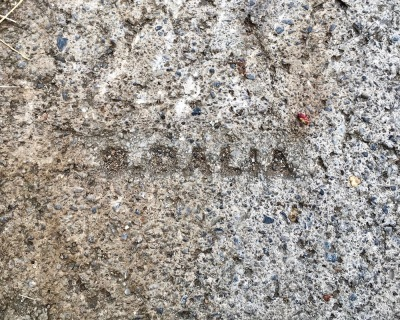 sidewalk stamp for D. Dalia, Pittsburgh, PA