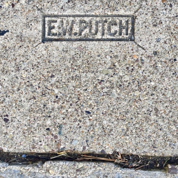 sidewalk stamp for E.W. Putch, Pittsburgh, PA