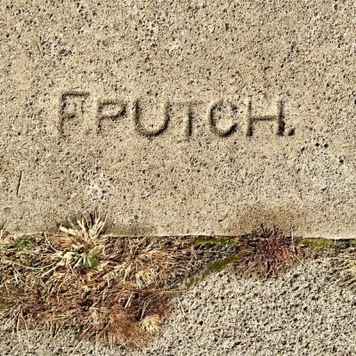 sidewalk stamp for F. Putch, Pittsburgh, PA