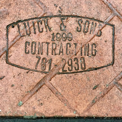 sidewalk stamp for Luick & Sons, Pittsburgh, PA
