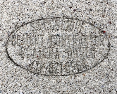 sidewalk stamp for Saccacione Cement Contractor, Pittsburgh, PA