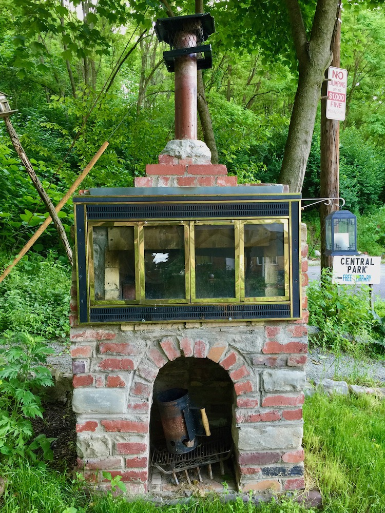 handmade brick over/grill in Pittsburgh's Central Park