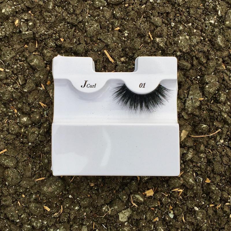 single false eyelash still in its packaging