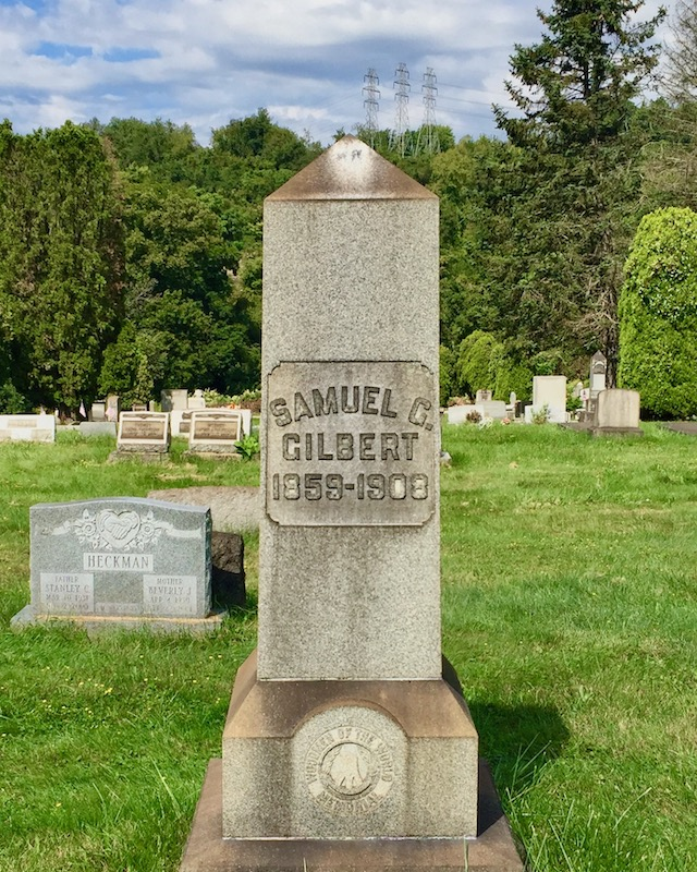 grave marker branded with Woodmen of the World insignia, Richland Cemetery, Dravosburg, PA